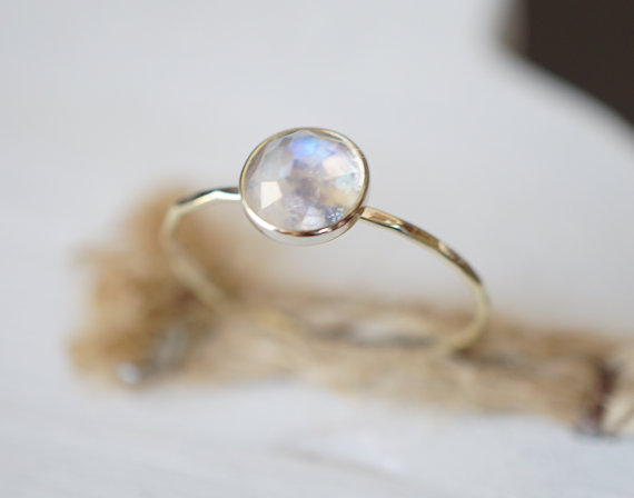jewelry jewellery falak gold moonstone ring gems white